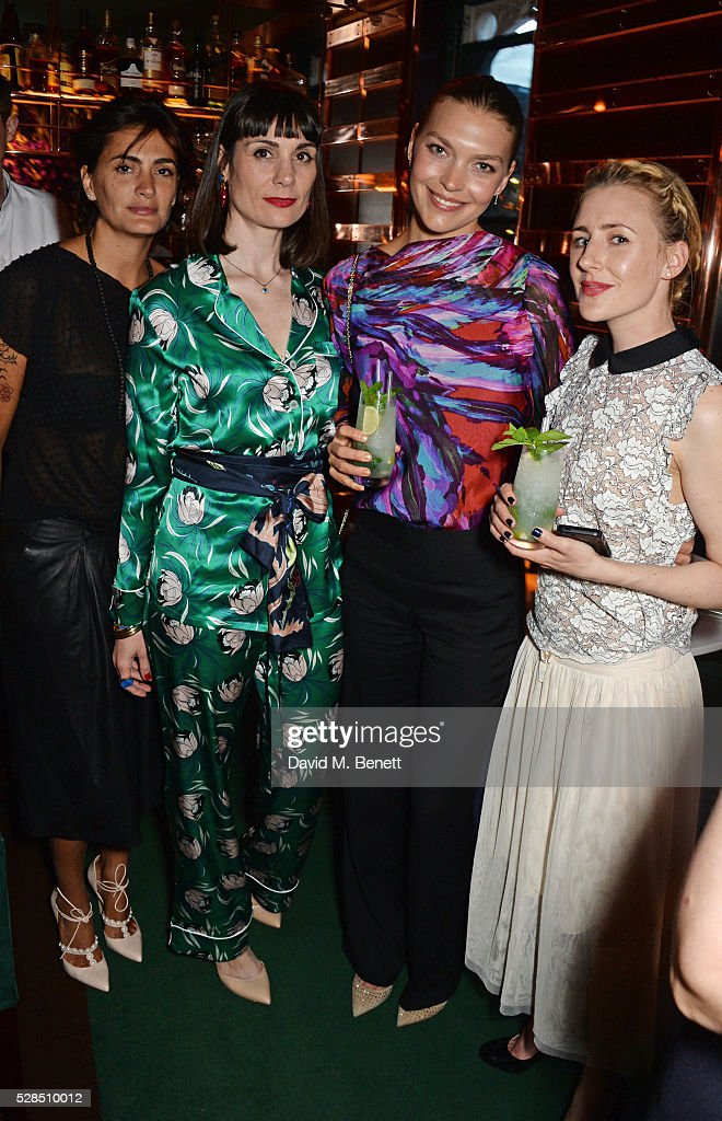 Jessica Lemarie Pires, Maria Kastani, Arizona Muse and Megan Kennedy attend a private dinner hosted by Rodial founder Maria Hatzistefanis & Bay Garnett at Casa Cruz on May 5, 2016 in London, England.
