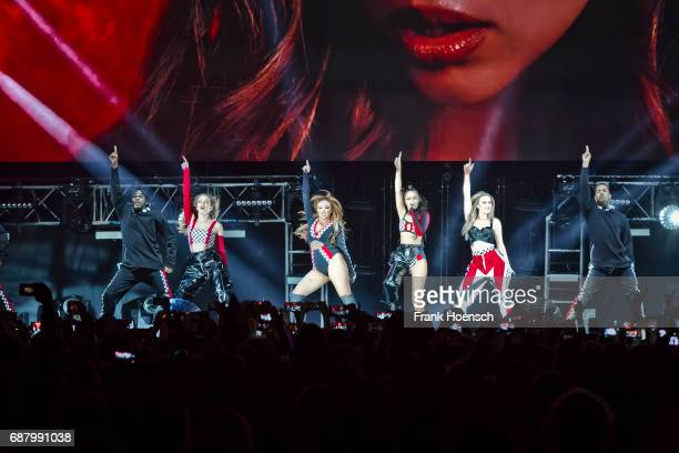 Jessica Louise Nelson Jade Amelia Thirlwall LeighAnne Pinnock and Perrie Louise Edwards of the British band Little Mix perform live on stage during a...