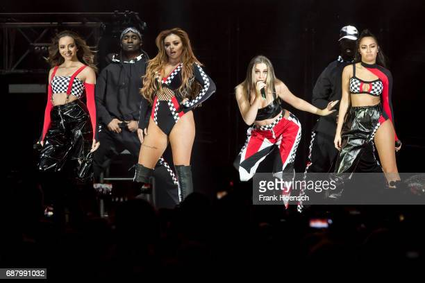 Jessica Louise Nelson Jade Amelia Thirlwall Perrie Louise Edwards and LeighAnne Pinnock of the British band Little Mix perform live on stage during a...