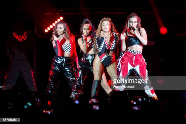 Jessica Louise Nelson LeighAnne Pinnock Jade Amelia Thirlwall and Perrie Louise Edwards of the British band Little Mix perform live on stage during a...