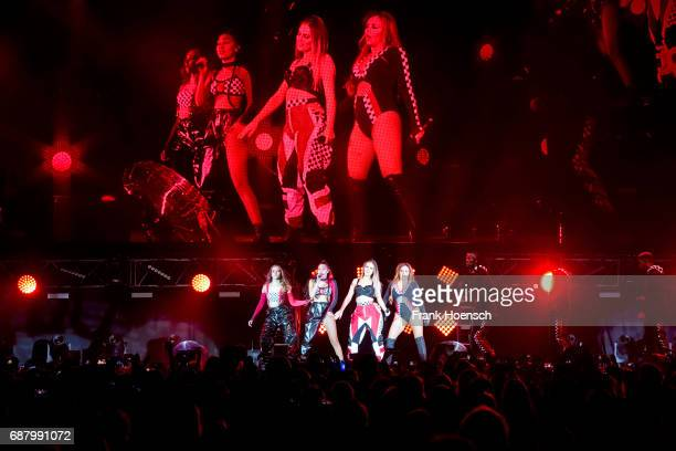 Jessica Louise Nelson LeighAnne Pinnock Perrie Louise Edwards and Jade Amelia Thirlwall of the British band Little Mix perform live on stage during a...