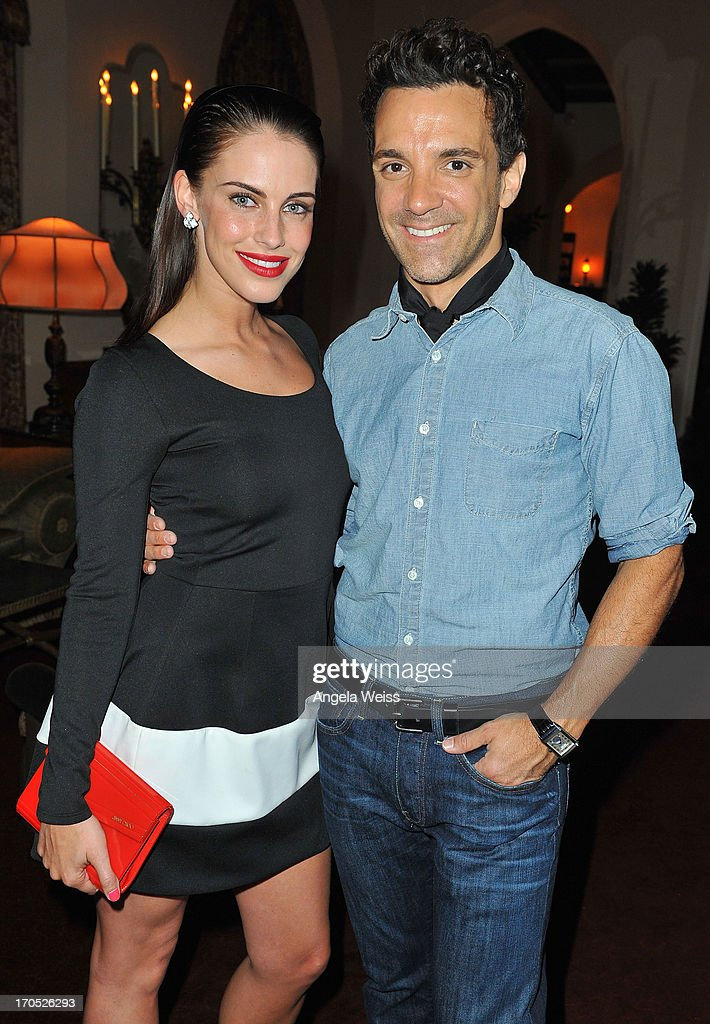 Jessica Lowndes and George Kotsiopoulos attend Lucky Brand's Measure of Style Dinner at Chateau Marmont on June 13, 2013 in Los Angeles, California.