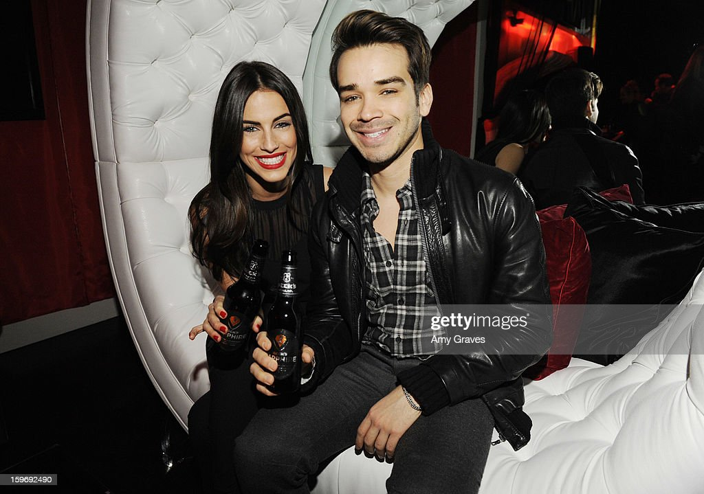 Jessica Lowndes and Joey Carrera attend the Beck's Sapphire Launch Event on January 17, 2013 in Beverly Hills, California.
