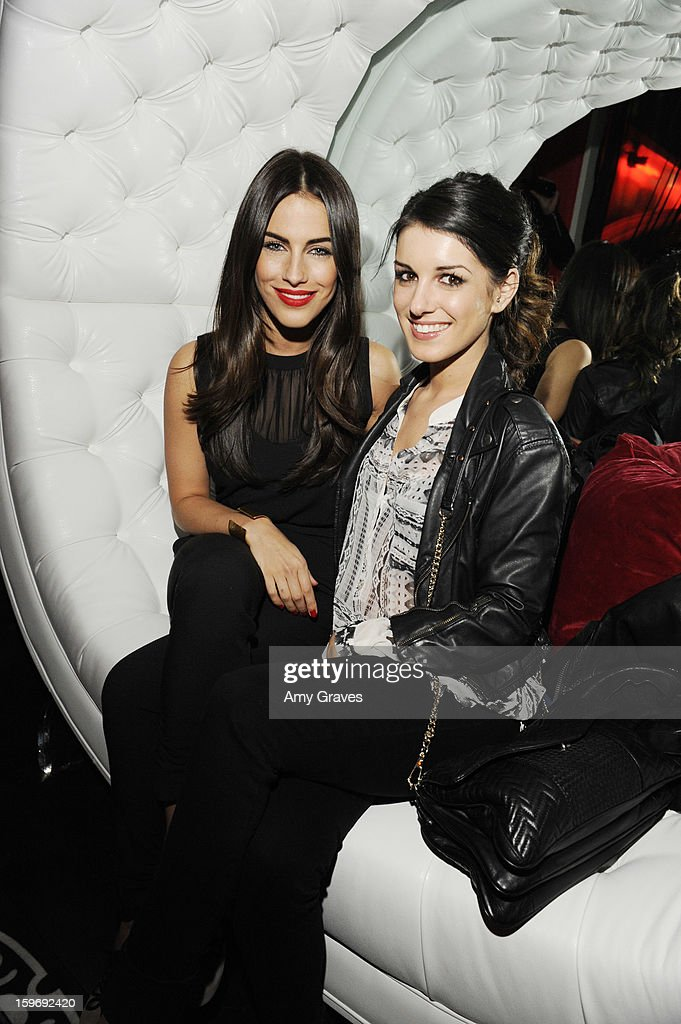 Jessica Lowndes and Shenae Grimes attend the Beck's Sapphire Launch Event on January 17, 2013 in Beverly Hills, California.