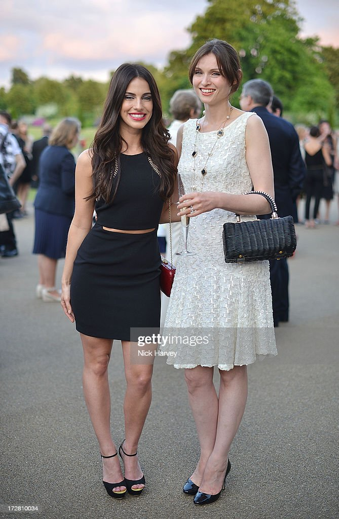 Jessica Lowndes and Sophie Ellis Bexter attends the launch party for the Fashion Rules exhibition, a collection of dresses worn by HRH Queen Elizabeth II, Princess Margaret and Diana, Princess of Wales at Kensington Palace on July 4, 2013 in London, England.