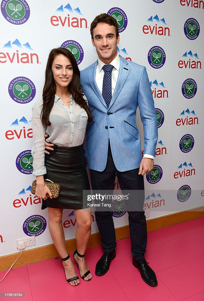 Celebrities Attend The Evian Suite At Wimbledon 2013 - Day 10