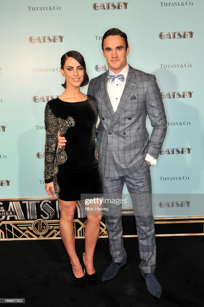 Jessica Lowndes and Thom Evans attend the Tiffany & Co. and Warner Brothers special screening of The Great Gatsby on May 15, 2013 in London, England.