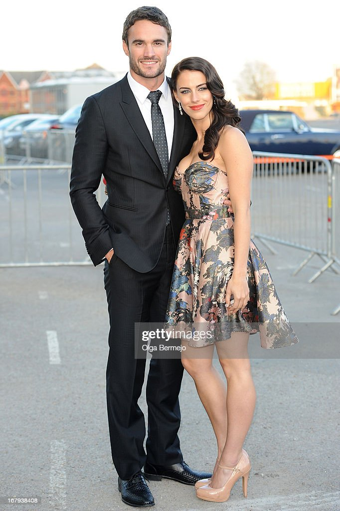 Jessica Lowndes and Thom Evans attends the annual fundraiser in aid of Gabrielle's Angel Foundation for Cancer Research at Battersea Power station on May 2, 2013 in London, England.