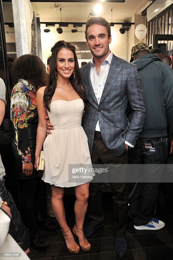 Jessica Lowndes and Thom Evens attend the Casio London Store 1st birthday party on May 8, 2013 in London, England.