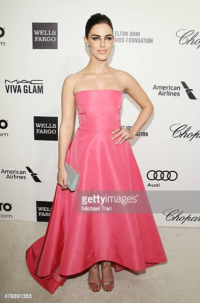 Jessica Lowndes arrives at the 22nd Annual Elton John AIDS Foundation's Oscar viewing party held on March 2 2014 in West Hollywood California