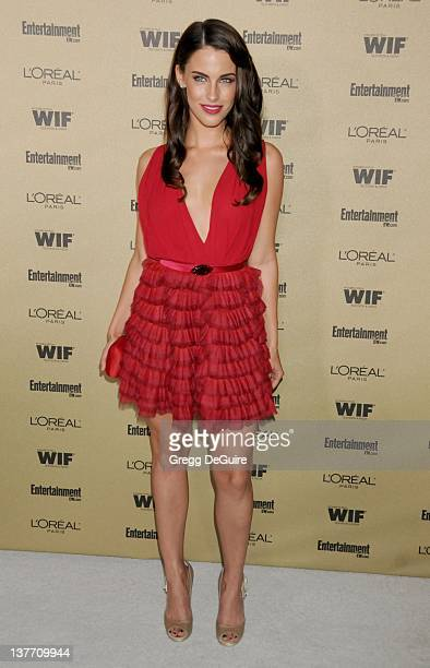 Jessica Lowndes arrives at the Entertainment Weekly and Women In Film PreEmmy Party at the 'Restaurant' at the Sunset Marquis Hotel on August 27 2010...