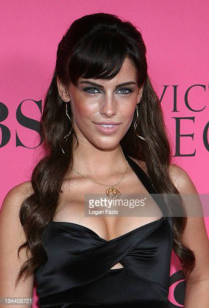 Jessica Lowndes arrives at the Victoria's Secret Fashion Show at Fontainebleau on November 15 2008 in Miami Beach Florida