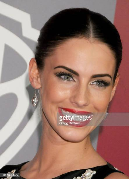 Jessica Lowndes arrives sat the 12th Annual Warner Bros and Instyle PostGolden Globe Party at the Beverly Hilton Hotel on January 16 2011 in Beverly...