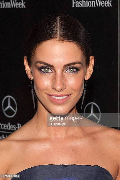 Jessica Lowndes attends MercedesBenz Fashion Week Spring 2014 at Lincoln Center for the Performing Arts on September 7 2013 in New York City