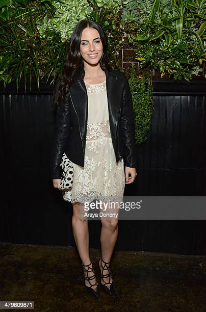 Jessica Lowndes attends the [BLANKNYC] SS'14 celebration at Goldie's on March 19 2014 in Los Angeles California