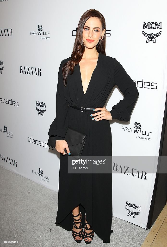 Jessica Lowndes attends the Dukes Of Melrose launch hosted by Decades and Harper's BAZAAR at The Terrace at Sunset Tower on February 28, 2013 in West Hollywood, California.