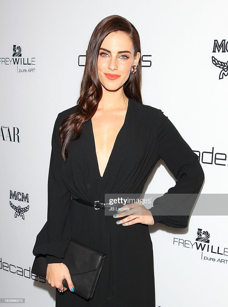 <a gi-track='captionPersonalityLinkClicked' href=/galleries/search?phrase=Jessica+Lowndes&family=editorial&specificpeople=3960270 ng-click='$event.stopPropagation()'>Jessica Lowndes</a> attends the Dukes Of Melrose launch hosted by Decades and Harper's BAZAAR at The Terrace at Sunset Tower on February 28, 2013 in West Hollywood, California.