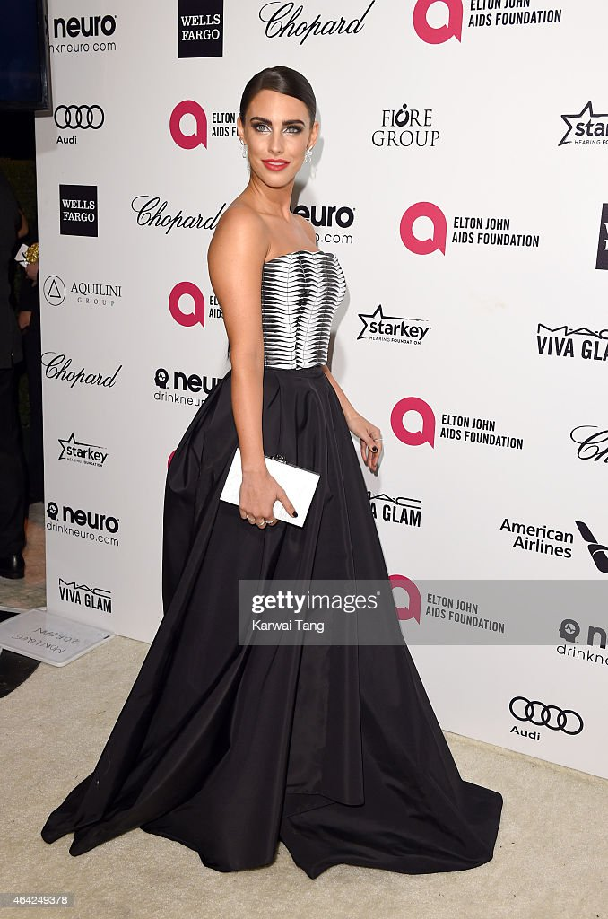 Jessica Lowndes attends the Elton John AIDS Foundation's 23rd annual Academy Awards Viewing Party at The City of West Hollywood Park on February 22, 2015 in West Hollywood, California.