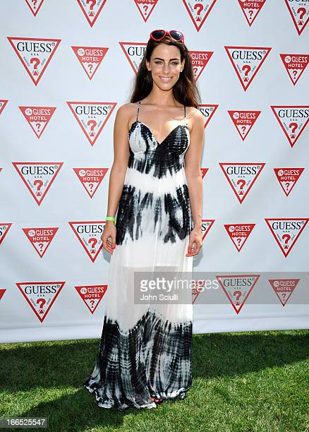 Jessica Lowndes attends the GUESS Hotel pool party at Viceroy Palm Springs on April 13 2013 in Palm Springs California