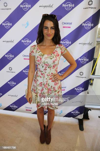 Jessica Lowndes attends the Hard Rock Music Lounge at Hard Rock Hotel Palm Springs on April 12 2013 in Palm Springs California