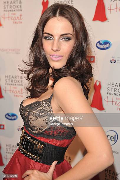 Jessica Lowndes poses backstage at the Heart Truth fashion show at the Allstream Centre on March 31 2010 in Toronto Canada