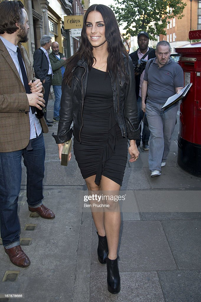 Jessica Lowndes sighted arriving at the Human Relations Private View on May 1, 2013 in London, England.
