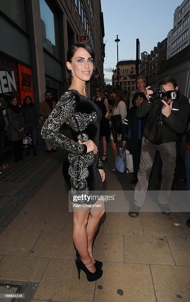 Jessica Lowndes sighting arriving at Cineworld Haymarket for screening of The Great Gatsby on May 15, 2013 in London, England.