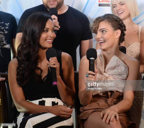 Jessica Lucas and Camren Bicondova attend SiriusXM's Entertainment Weekly Radio Channel Broadcasts From Comic Con 2017 at Hard Rock Hotel San Diego...