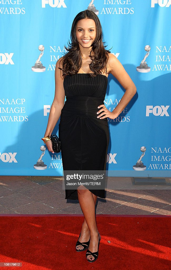 Jessica Lucas arrives at the 39th NAACP Image Awards held at the Shrine Auditorium on February 14 2008 in Los Angeles California
