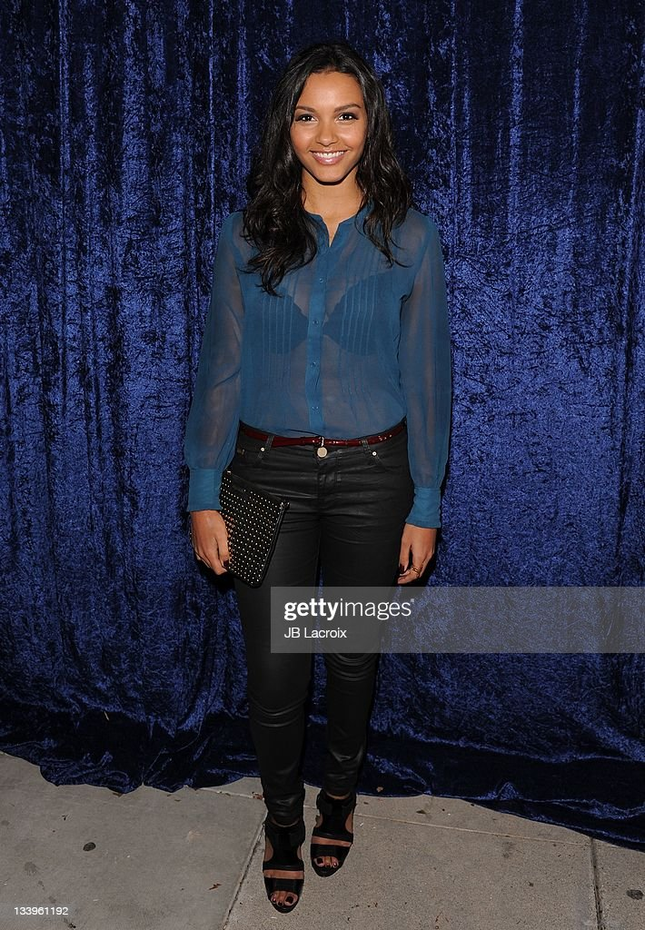 <a gi-track='captionPersonalityLinkClicked' href=/galleries/search?phrase=Jessica+Lucas&family=editorial&specificpeople=837310 ng-click='$event.stopPropagation()'>Jessica Lucas</a> arrives to Paramount Pictures' 'Super 8' Blu-ray and DVD release party at AMPAS Samuel Goldwyn Theater on November 22, 2011 in Beverly Hills, California.