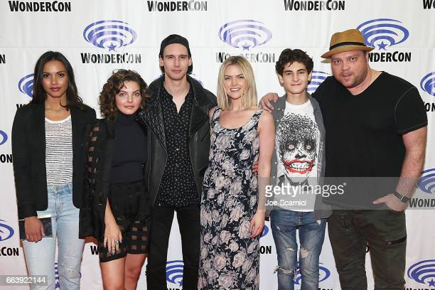 Jessica Lucas Camren Bicondova Cory Michael Smith Erin Richards David Mazouz and Drew Powell attend the 'Gotham' press line at WonderCon 2017 Day 3...