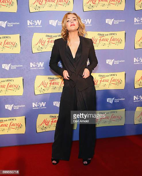Jessica Marais arrives ahead of My Fair Lady opening night at Sydney Opera House on September 6 2016 in Sydney Australia