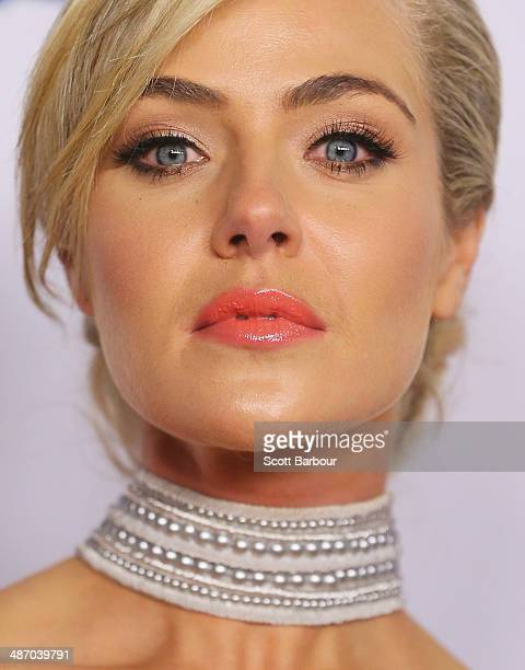 Jessica Marais arrives at the 2014 Logie Awards at Crown Palladium on April 27 2014 in Melbourne Australia