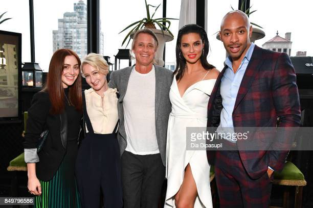 Jessica Matlin Sarah Brown Russell James Adriana Lima and Sir John attend the 'American Beauty Star' premiere at Gramercy Terrace at The Gramercy...