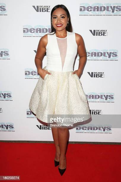 Jessica Mauboy arrives at the 2013 Deadly Awards at the Sydney Opera House on September 10 2013 in Sydney Australia The Deadly Awards are the...