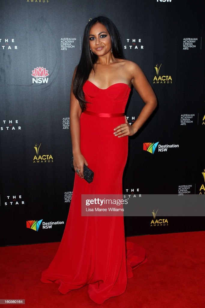 Jessica Mauboy arrives at the 2nd Annual AACTA Awards at The Star on January 30, 2013 in Sydney, Australia.