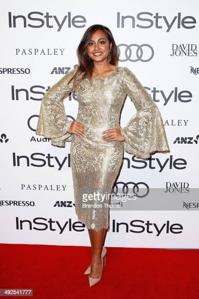 Jessica Mauboy arrives at the Instyle and Audi 'Women of Style' Awards on May 21 2014 in Sydney Australia