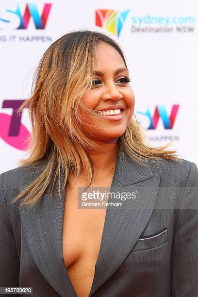 Jessica Mauboy arrives for the 29th Annual ARIA Awards 2015 at The Star on November 26 2015 in Sydney Australia