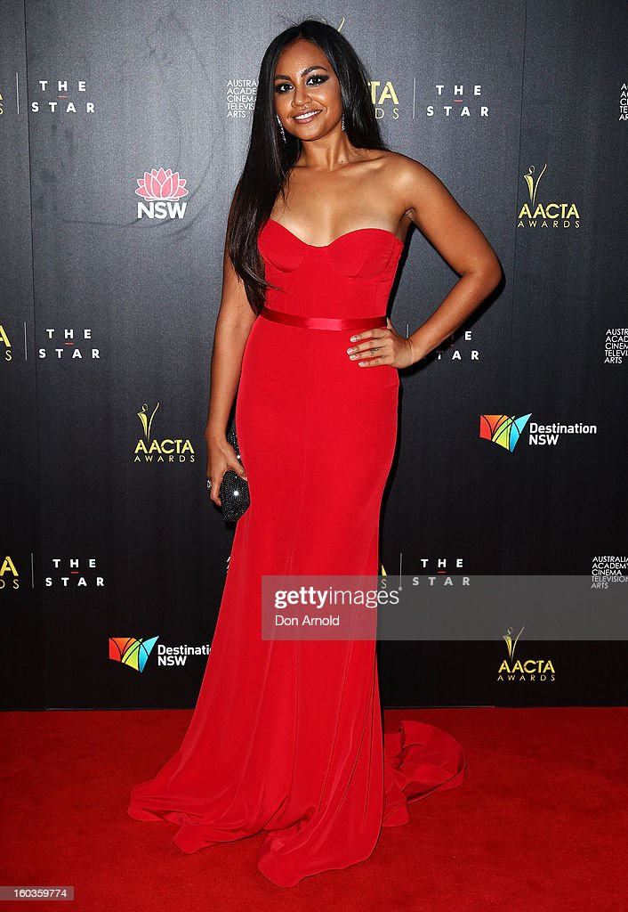Jessica Mauboy arrives for the 2nd Annual AACTA Awards at The Star on January 30, 2013 in Sydney, Australia.