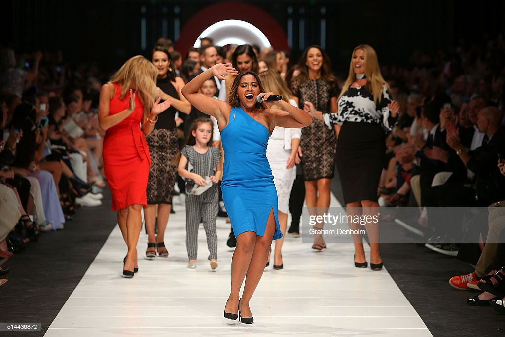 Jessica Mauboy performs during the Jean Paul Gaultier x Target show during Melbourne Fashion Festival on March 9, 2016 in Melbourne, Australia.