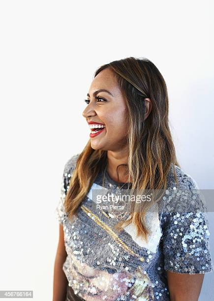 Jessica Mauboy poses at the 28th Annual ARIA Nominations Event at Art Gallery Of NSW on October 7 2014 in Sydney Australia
