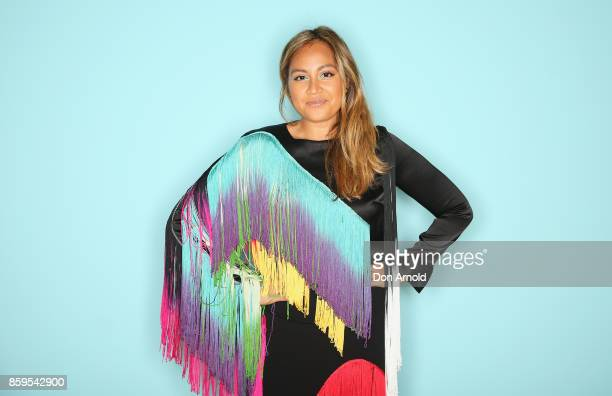 Jessica Mauboy poses at the 31st Annual ARIA Nominations Event at Art Gallery Of NSW on October 10 2017 in Sydney Australia