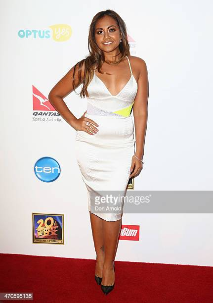 Jessica Mauboy poses at the Modern Family Media Call at The Sebel on February 20 2014 in Sydney Australia The cast from the popular television...