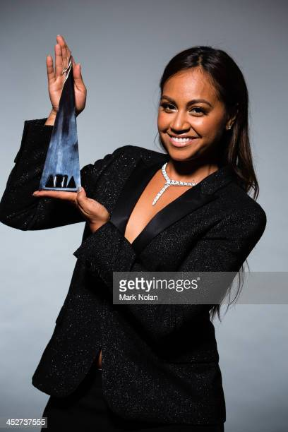 Jessica Mauboy poses for a portrait during the 27th Annual ARIA Awards 2013 at the Star on December 1 2013 in Sydney Australia