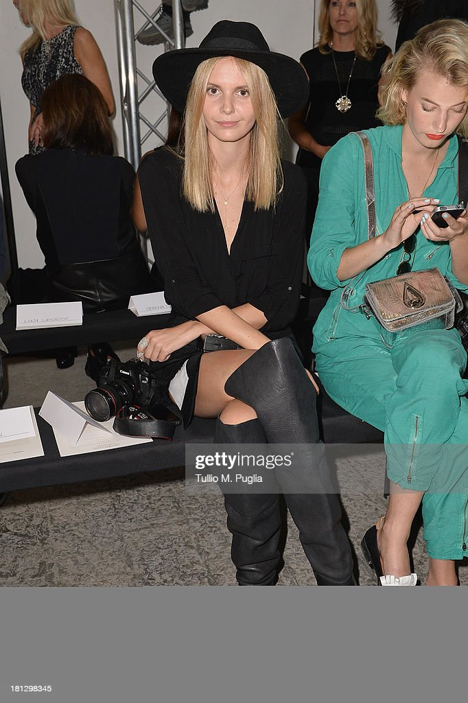 Jessica Maystein attends the Sportmax show as a part of Milan Fashion Week Womenswear Spring/Summer 2014 on September 20, 2013 in Milan, Italy.