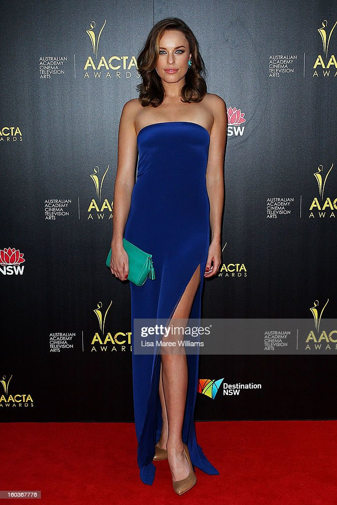 Jessica McNamee arrives at the 2nd Annual AACTA Awards at The Star on January 30, 2013 in Sydney, Australia.