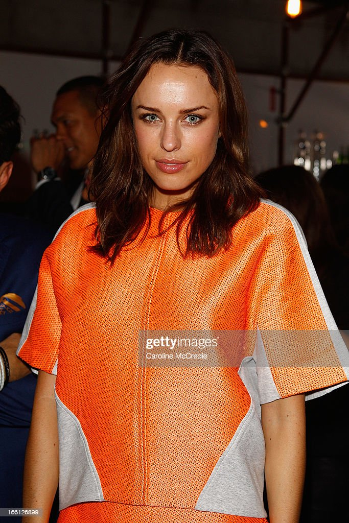 Jessica McNamee attends the Mercedes-Benz Star Lounge during Mercedes-Benz Fashion Week Australia Spring/Summer 2013/14 at Carriageworks on April 9, 2013 in Sydney, Australia.