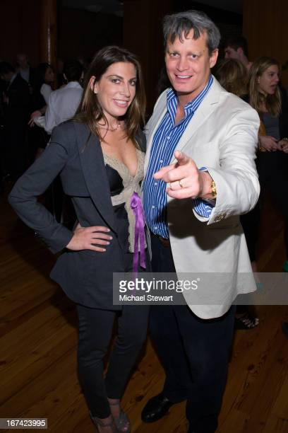 Jessica Meisels and Matthew Mellon attend Alvin Valley 'Belle De Jour' Intimate Dinner Party on April 24 2013 in New York City