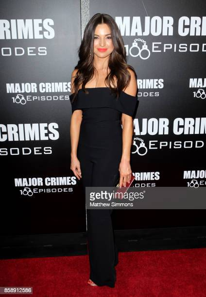Jessica Meraz at TNT's 'Major Crimes' 100th episode celebration at 71Above on October 7 2017 in Los Angeles California