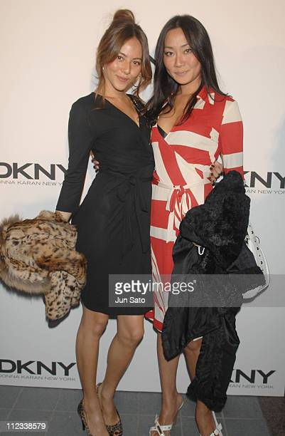 Jessica Michibata and Asami Saito during DKNY Spring/Summer 2007 After Party at Kasumigaoka National Stadium in Tokyo Japan